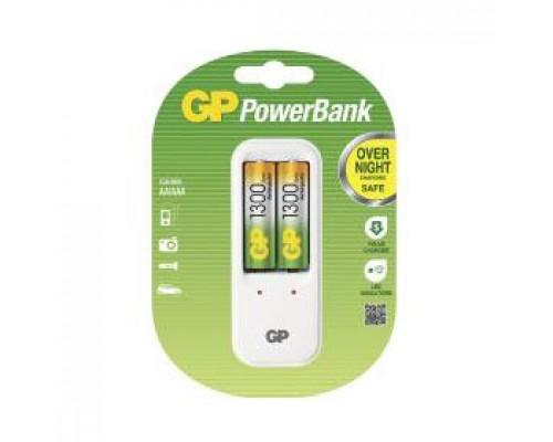 Зарядное устр-во GP PowerBank+2 АА 1300mAh